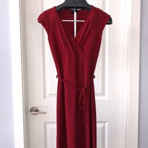 Red party dress from le chateau